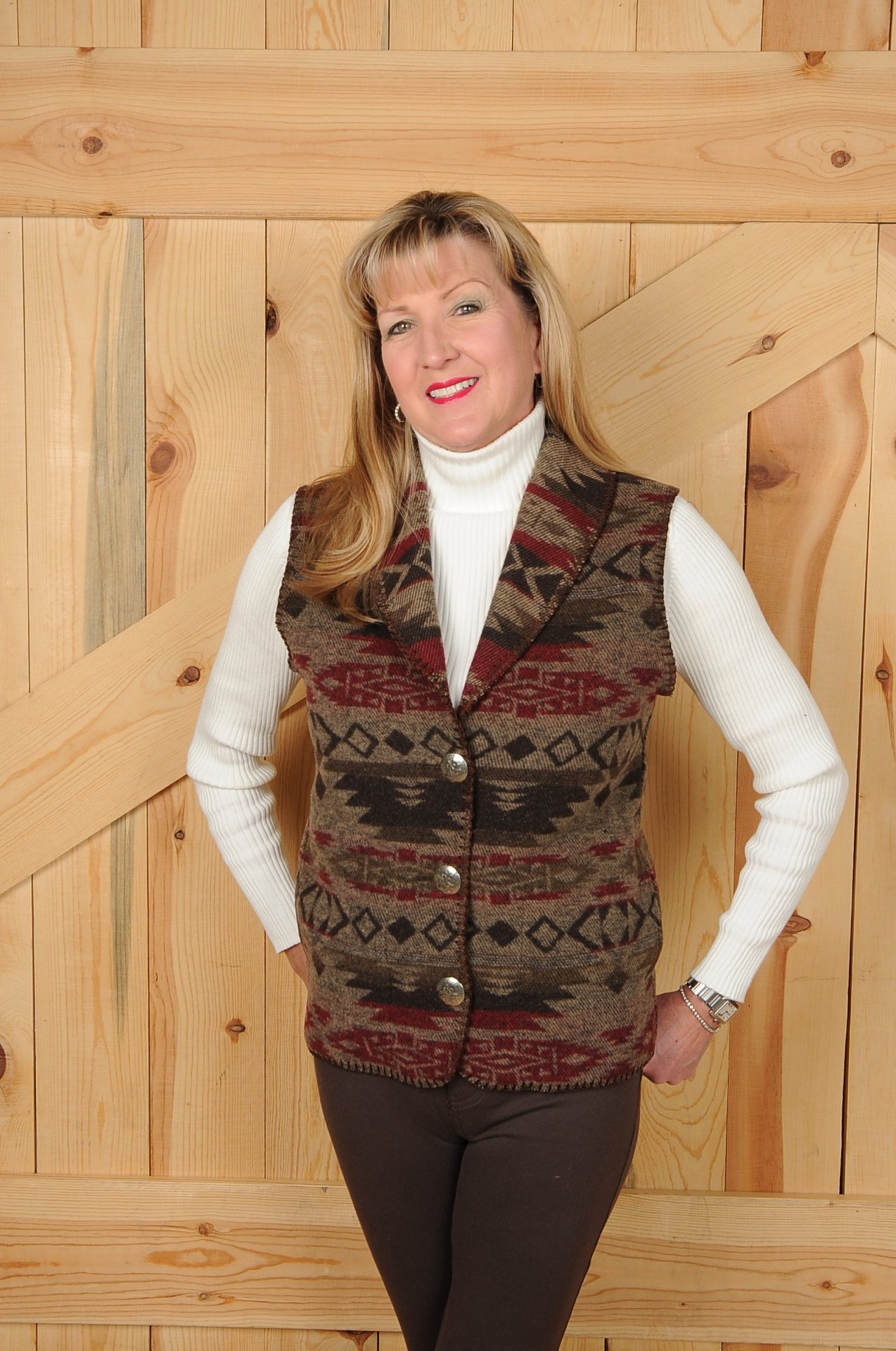 #130ME - MESA SHAWL COLLAR VEST -- WAS $99.95 -- SALE $49.98 -- SMALL ONLY!