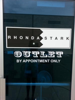 RHONDA STARK OUTLET - OPEN BY APPOINTMENT ONLY!