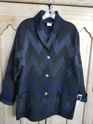 #875WM - MIDNIGHT WIGWAM CAR COAT - $179.95 -- OUTLET SALE $50!  SMALL ONLY!