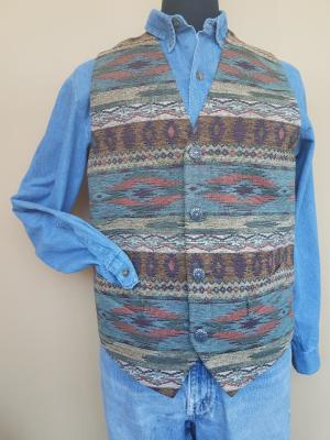 #M150GR - GOLDEN ROCK TAPESTRY MEN'S VEST - WAS $169.95 -- SALE $125.95!  Large/Slim & Large ONLY!!