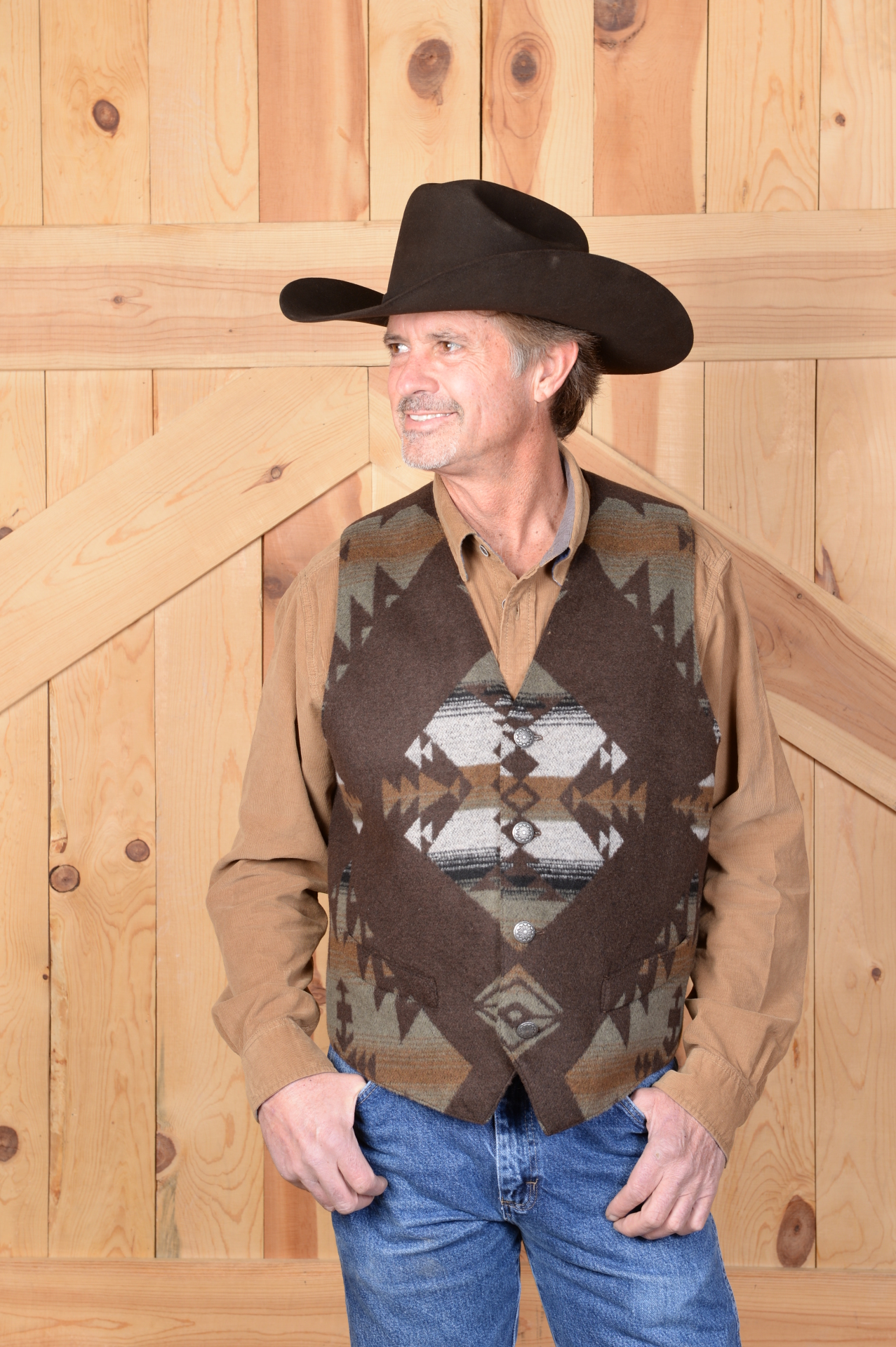 #M150KS - KEMOSABE MEN'S VEST - XL & 2X/Slim ONLY!  Was $169.95 -- SALE $125.95!!